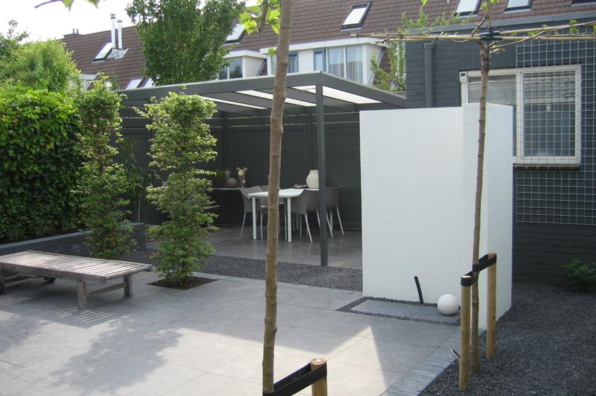 Moderne terrasoverkapping wijsman tuinoverkappingen for Maak een overdekt terras